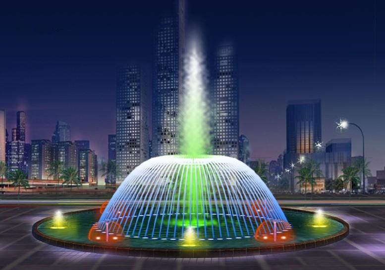喷泉水景能在园林中发挥特殊作用,因此喷泉水景设计显得尤为重要.